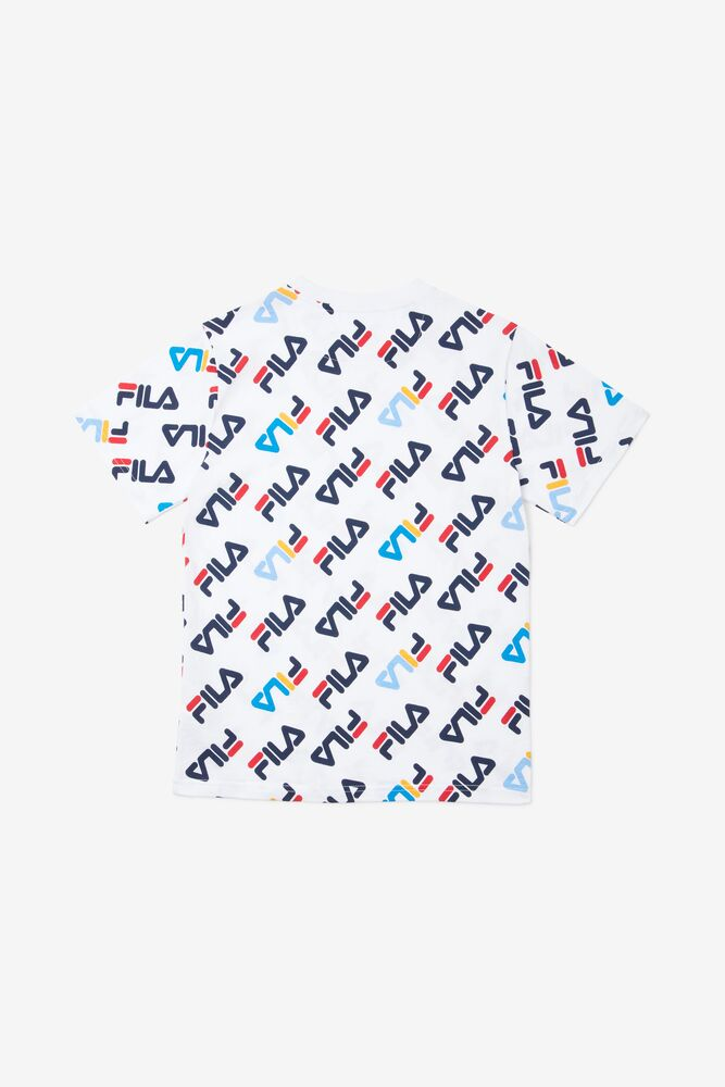 Kids' Rico All-Over Print Tee in white