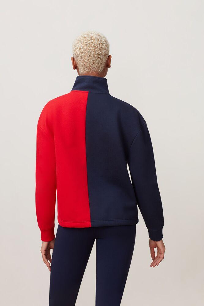 nayara 1/4 zip sweatshirt in webimage-C5256F81-5ABE-4040-BEA94D2EA7204183