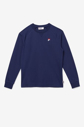 Flynn Long Sleeve Tee in navy