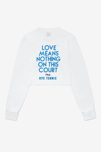 NYC LOVES MEANS CROPS L/S