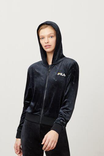 cipriana embossed velour hoodie in webimage-16EDF0C7-89E9-4B76-AF680D327C32E48E