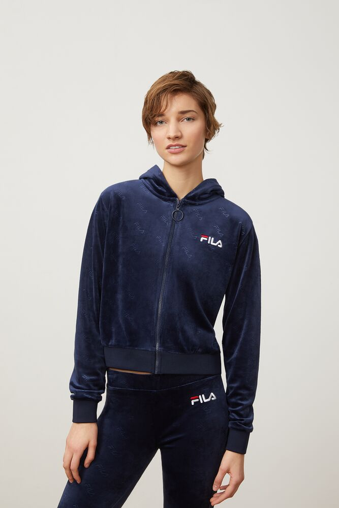 cipriana embossed velour hoodie in webimage-C5256F81-5ABE-4040-BEA94D2EA7204183