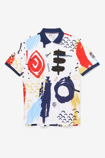 FILA x The Museum Printed Polo in webimage-8A572F80-2532-42C2-9598F832C44DF3F5