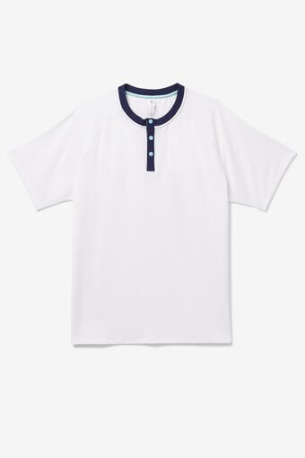Cross Court Short Sleeve Henley in NotAvailable