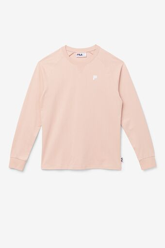 Flynn Long Sleeve Tee in silverpink