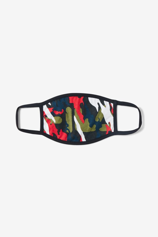 Multicolor Camouflage Face Mask FILA.com exclusive in webimage-16EDF0C7-89E9-4B76-AF680D327C32E48E