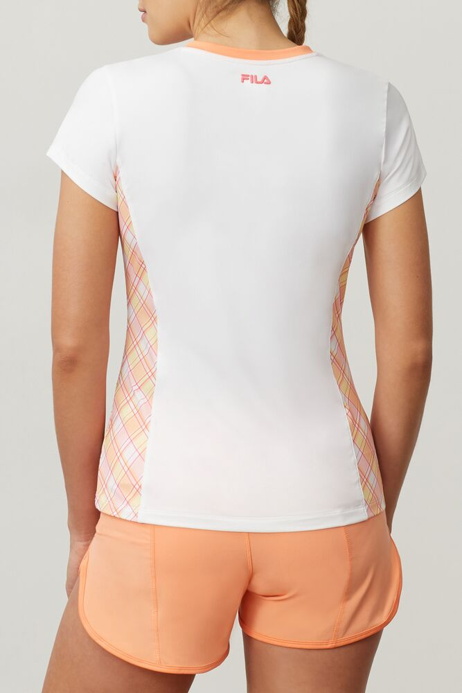 Mad for Plaid Short Sleeve V-Neck Top in webimage-8A572F80-2532-42C2-9598F832C44DF3F5