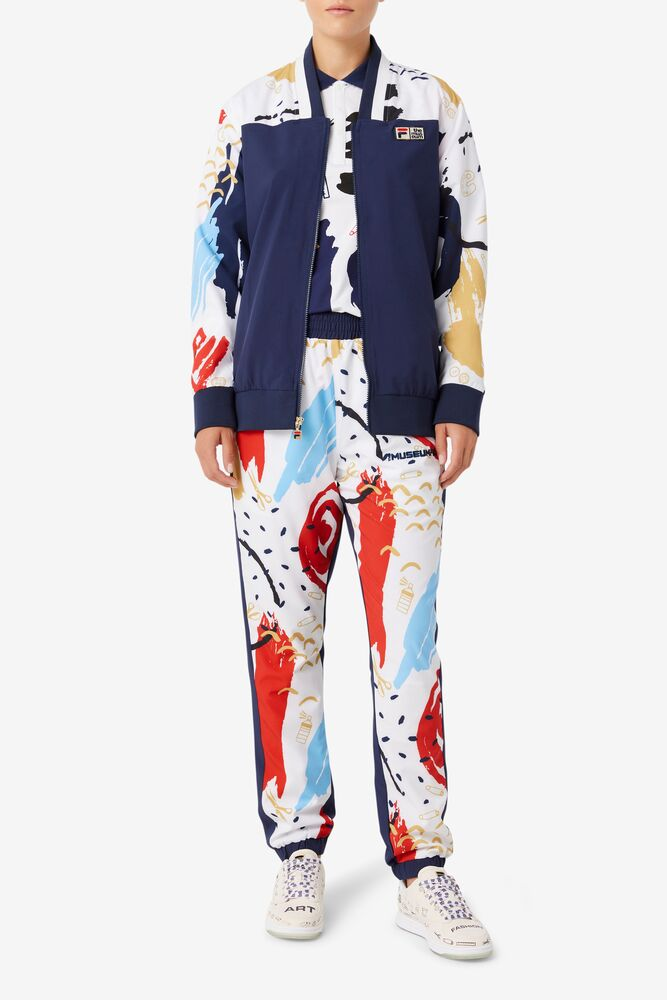 FILA x The Museum Printed Track Pant in webimage-C5256F81-5ABE-4040-BEA94D2EA7204183