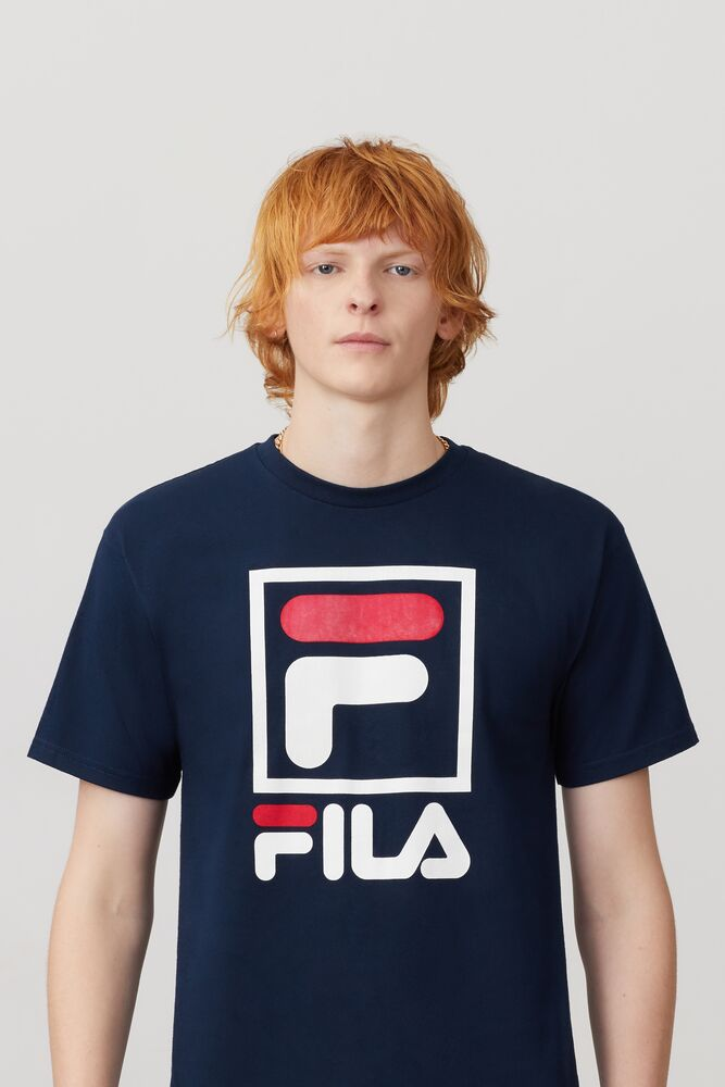 Stacked Tee Shirt - Tops   Fila