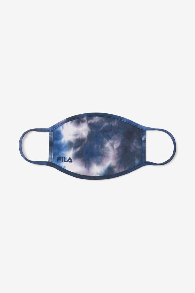 Navy Tie Dye Face Mask in webimage-C5256F81-5ABE-4040-BEA94D2EA7204183