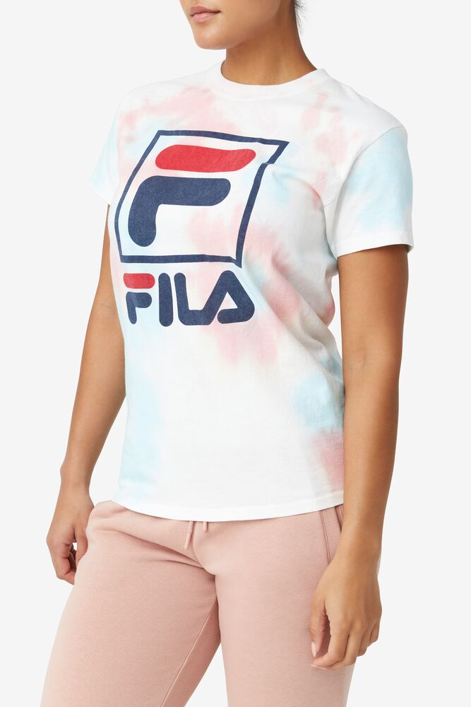 Tie Dye Stacked Logo Tee in webimage-8A572F80-2532-42C2-9598F832C44DF3F5