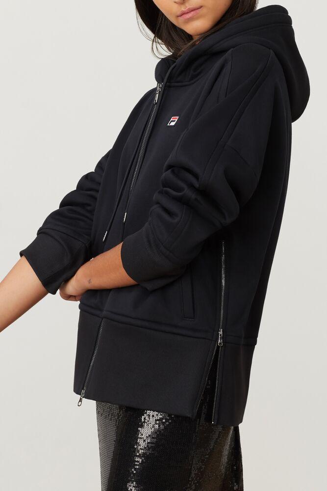 FILA Milano knit full-zip hoodie in webimage-16EDF0C7-89E9-4B76-AF680D327C32E48E