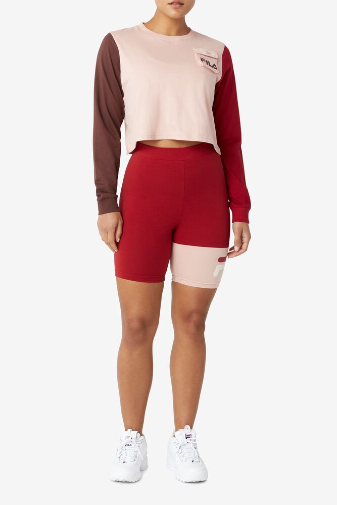 TANIKA LONG SLEEVE CROP TEE