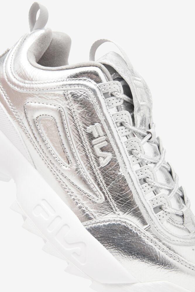 Women's Disruptor 2 Creased Metallic in silver