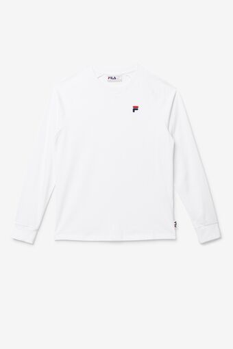 Flynn Long Sleeve Tee in white