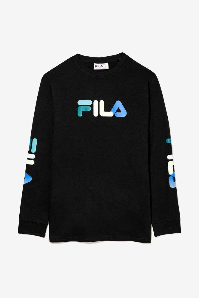 long sleeve FILA logo tee in webimage-16EDF0C7-89E9-4B76-AF680D327C32E48E