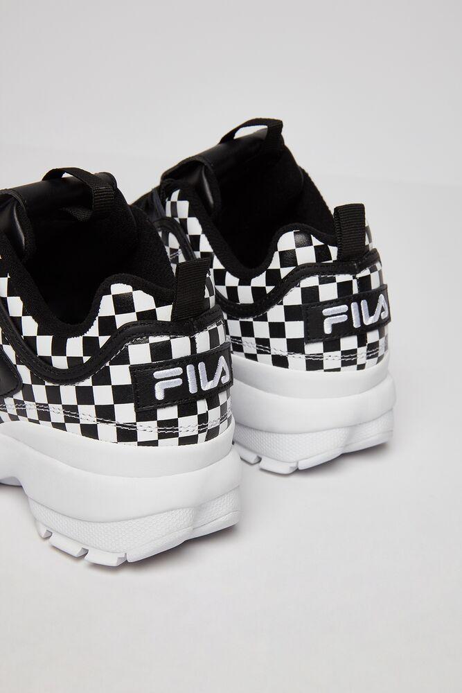 checker print shoes