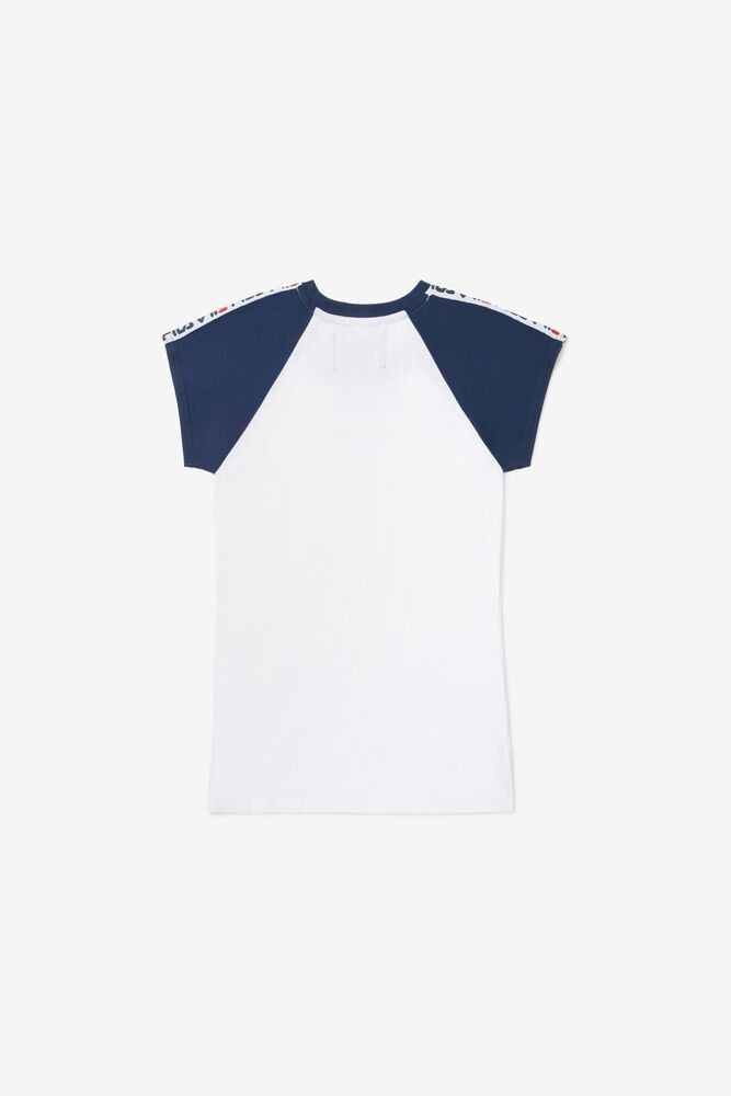 Kids' Raglan Taped Tee in white