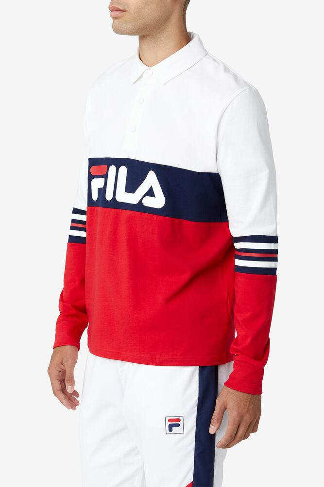Syd Long Sleeve Polo in white