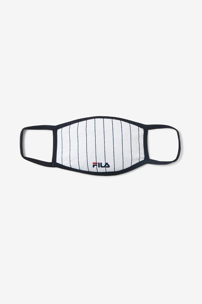 White Pin Stripe Face Mask FILA.com exclusive in webimage-8A572F80-2532-42C2-9598F832C44DF3F5