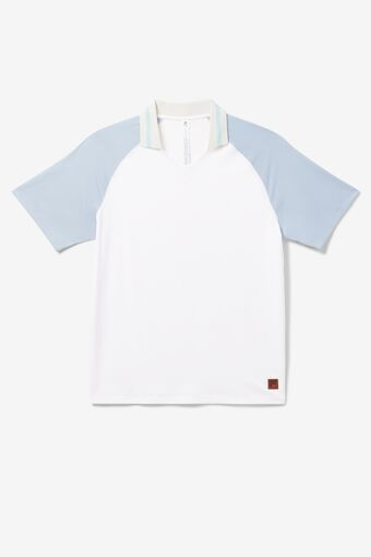 Cross Court V-Neck Polo in NotAvailable