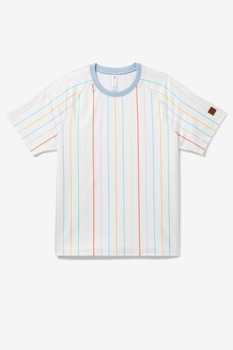 Cross Court Short Sleeve Printed Crew in NotAvailable