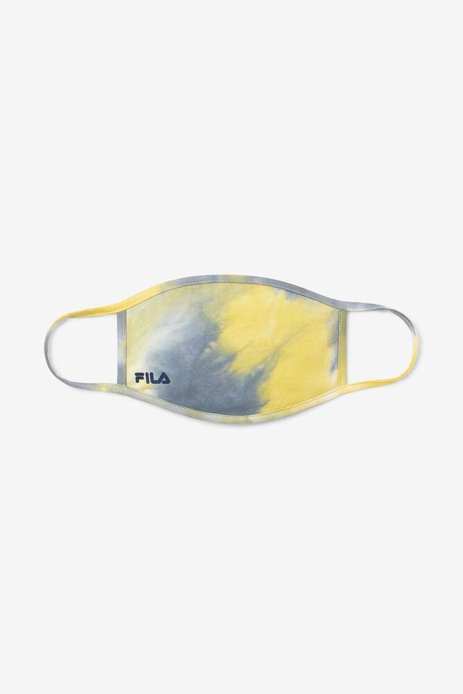 Yellow Tie Dye Face Mask in webimage-CBC7409C-20C1-4D77-AF9EDAD084BCD6DF