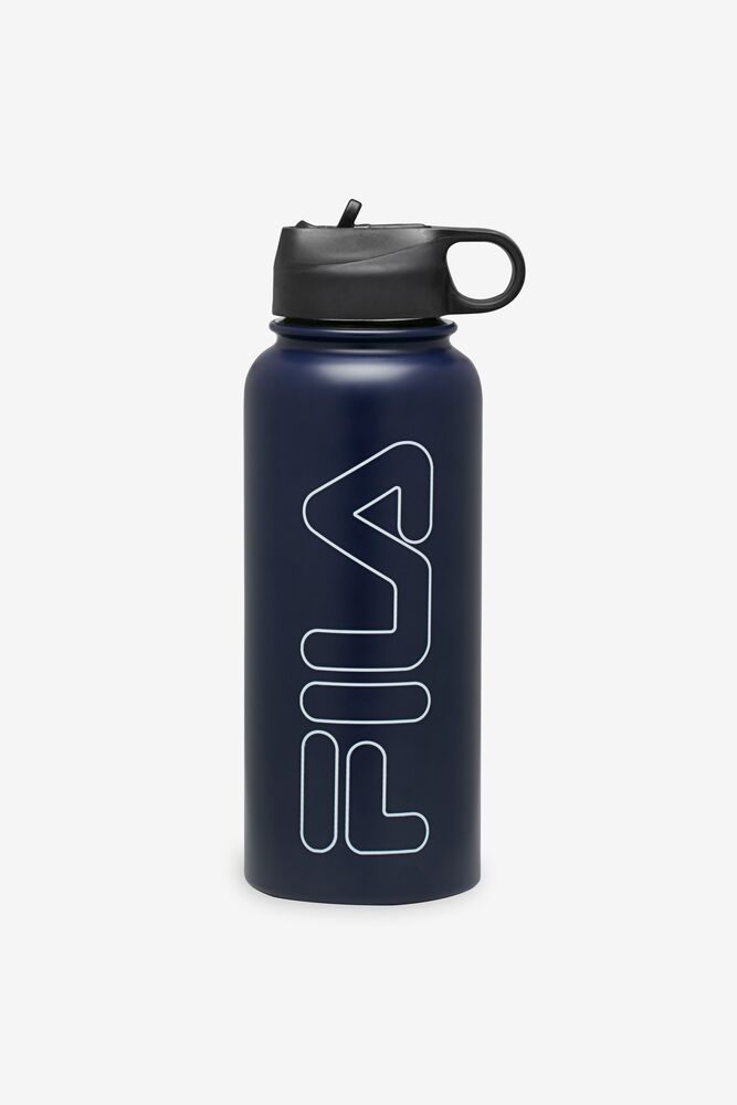 32oz Stainless Steel Water Bottle in Navy in webimage-C5256F81-5ABE-4040-BEA94D2EA7204183