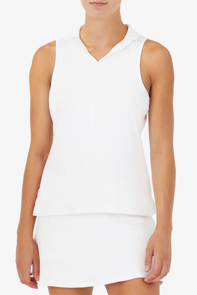 White Line Sleeveless Polo in webimage-8A572F80-2532-42C2-9598F832C44DF3F5