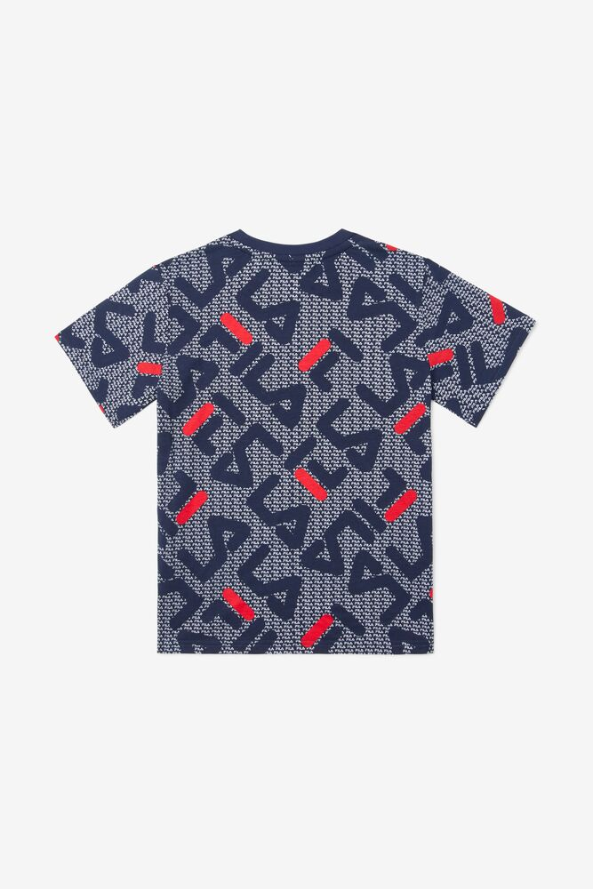 Kids' Castori Tee in navy